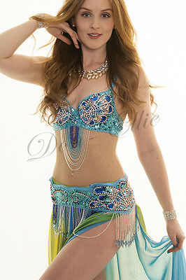 Professional Belly Dance Costume Sparkly Body Stocking with Hold Control