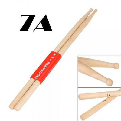 One Pair Percussion Stick 7A Maple Wood Drum Sticks Drumsticks Wooden Drumstick