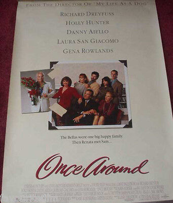 Cinema Poster: ONCE AROUND 1991 (One Sheet) Richard Dreyfuss Holly Hunter