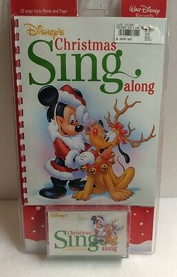 Disney Christmas Sing Along Cassette W/lyric Book New Old Stock