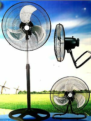 "Large High Velocity Industrial Floor Fan 18"" Floor Stand Mount Shop Commercial"