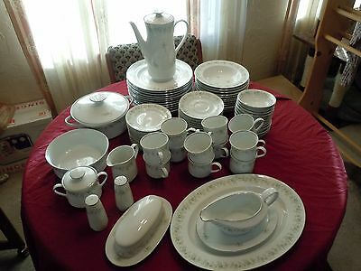 "85 PIECE SERVICE FOR 12 JOHANN HAVILAND BARVARIAN CHINA ""FOREVER SPRING"""