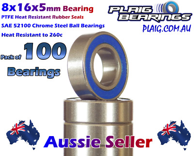 8x16x5mm RC Bearings (100) Wholesale Discount 79c per bearing MR688-2RS