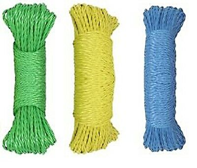 STRONG 30M 100ft WASHING CLOTHES LINE ROPE GARDEN DRYER LAUNDRY.