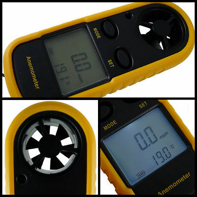 Handheld Digital LCD Wind Speed Meter Thermometer Anemometer for Surf Sailing