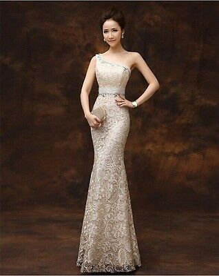 221F New Sexy Formal Wedding Prom Party Bridesmaid Evening Ball Gown Dress