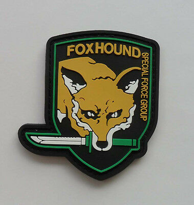 FOX HOUND SPECIAL FORCE GROUP PVC 3D Rubber .Metal Gear Solid.   Patch SJ 5