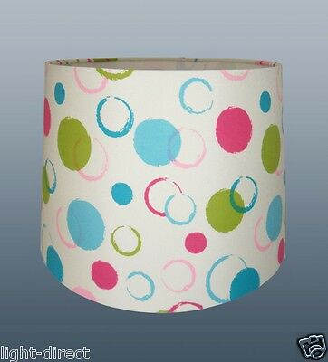 Kids Room Nursery  Fun Burcle Circle Multi Colour Lampshade For Table Or Ceiling