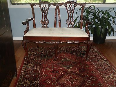 Bench High back (SETTEE)  Solid mahgony Chippindale style