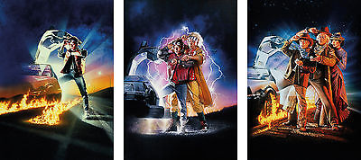 Back to the Future Trilogy Poster Set - A4 A3 A2 A1 Sets Available