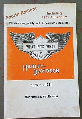 Harley Flathead Knucklehead What fits What book original 1936-1983 4th Edition