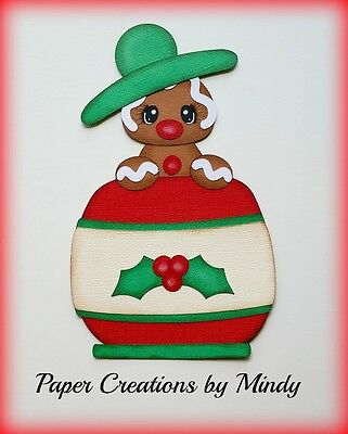 Craftecafe Mindy Christmas Gingerbread premade paper piecing for scrapbook page