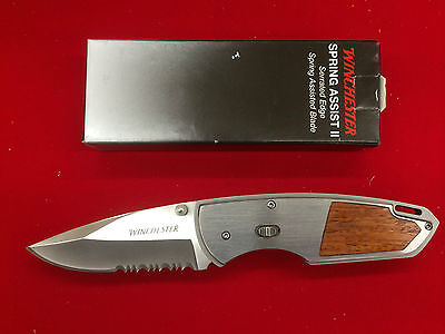 "Winchester G0200 Knives Folder Knife Stainless Spring Assist II 4 1/8"" Clos"