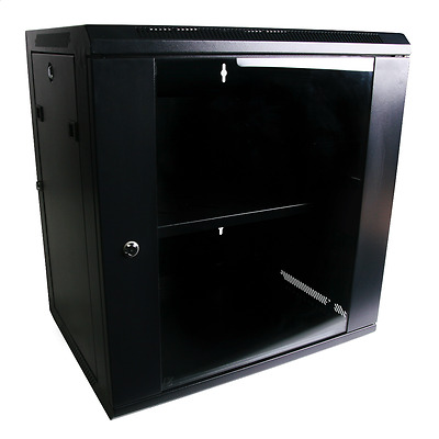 "9RU 9U 19"" 19 Inch 450mm Deep Wall Mount Server Rack Data Network Comms Cabinet"