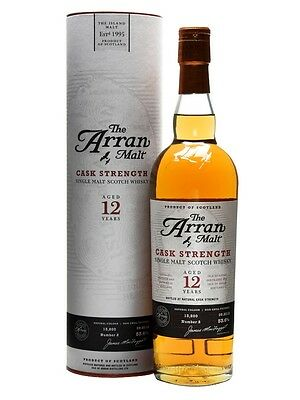 The Arran 12 Year Old Cask Strength Single Malt Scotch Whisky 700ml