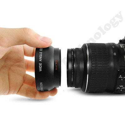 58MM 0.45x Fisheye Wide Angle+ Macro Lens for Canon EOS 500D 1000D T1i T2i T3i