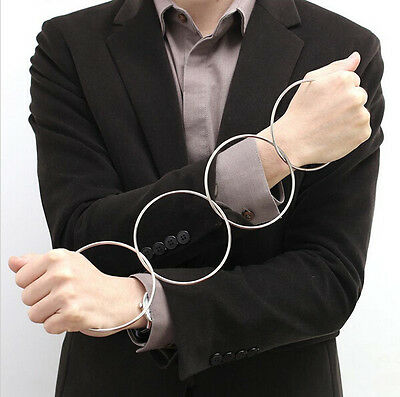 Mystery Close Up Magic Tricks Four Connected Rings Kit Four Linking Rings