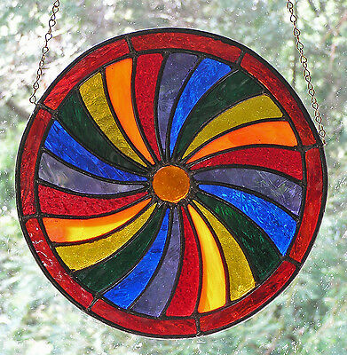 Stained Glass Panel - Four Seasons - Autumn - Decorative Roundel