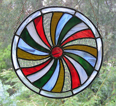 Stained Glass Panel - Four Seasons - Winter - Decorative Roundel