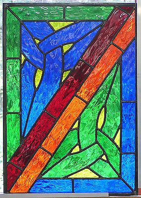 Celtic Corners Stained Glass Panel