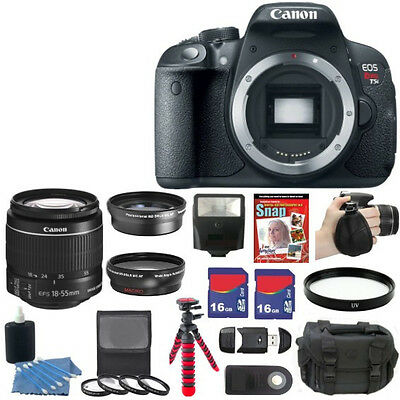 NEW Canon EOS Rebel T5i 700D SLR Camera + 7 Lens Kit 18-55 STM + 32GB Full Kit