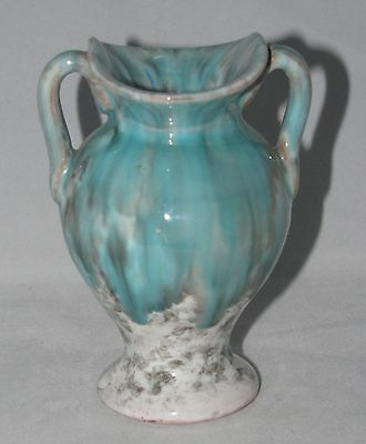 """4"""" Ceramic Footed Urn or Vase  Made in Italy  Blue Gray & White"""