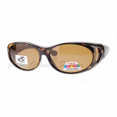Fit Over Glasses Polarized Sunglasses Oval Frame for Small Glasses