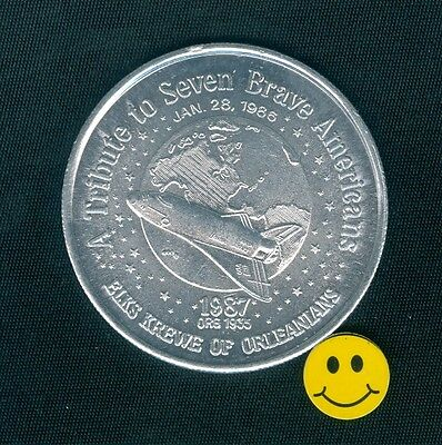 Challenger Space Shuttle Doubloon Coin Token 1987