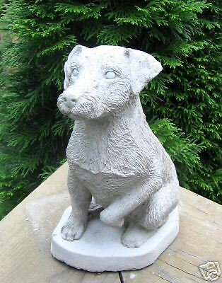 CONCRETE JACK RUSSELL TERRIER DOG  STATUE  /  MONUMENT