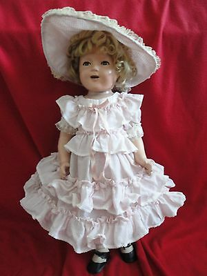 """Antique Doll - Vintage 25"""" Shirley Temple - 1930's"""