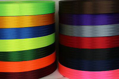 Seat Belt Webbing 10mts 50mm Sewing Horse rugs, bags, tents, canvas,cars, truck
