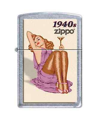 Zippo 7742 pin up girl 1940s RARE & DISCONTINUED Lighter