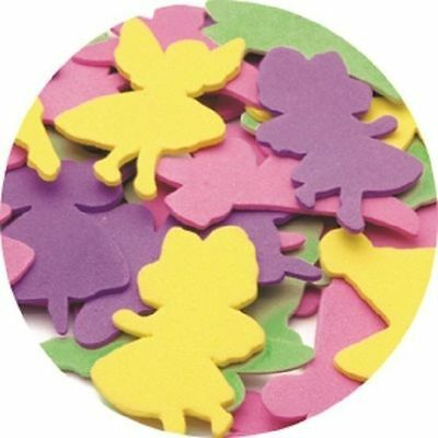 Foam Shapes Fairies Fairy 60 pieces - 4 colours 6 designs Other shapes available