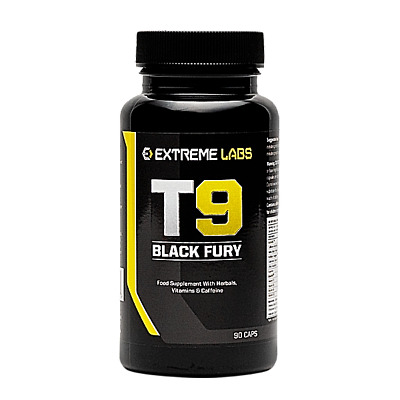 Extreme Labs T9 Black Fury - Strong Fat Burners Diet Weight Loss Slimming Pills
