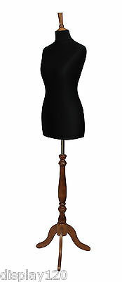 DELUXE Size 10 Female Dressmakers Dummy Mannequin Tailors BLACK Bust ROSE Stand