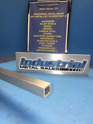 "3/4"" x 36""-long x 1/8"" Wall 6063 T52 Aluminum Square Tube-->.750"" x .125"" wall"