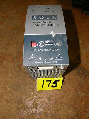 Sola Power Supply # Sdn 5-24-100Red