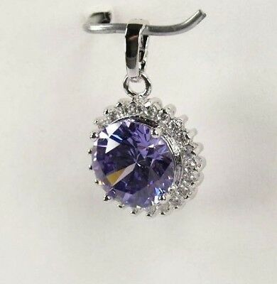 """P+1556 Handcrafted 21 Gemstones Purple Amethyst silver Pendent FREE 22"""" Chain"""