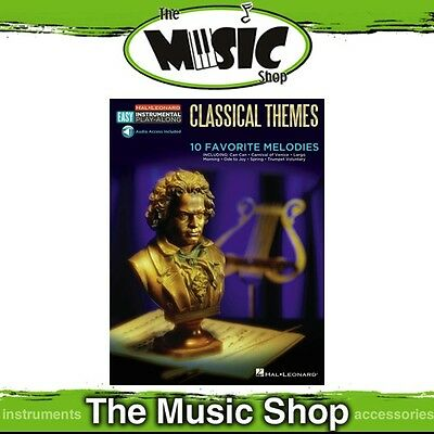 New HL Easy Instrumental Play Along: Classical Themes for Trombone Music Book