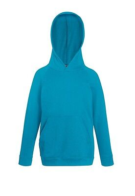 FRUIT OF THE LOOM - Kids Lightweight Hooded Sweat - Kinder kapuzenpullover - NEU