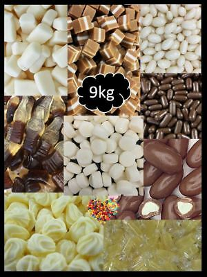 9Kg Vintage Diy Candy Buffet White,cream,ivory,chocolates,caramel, Lollies