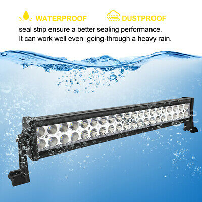 Safego 24INCH 120W LED LIGHT BAR FLOOD SPOT WORK lamp 4WD UTE OFFROAD VS 126W