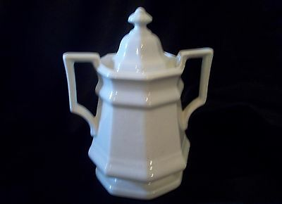 Vintage Iroquois China Museum Collection White Ivory Sugar Dish