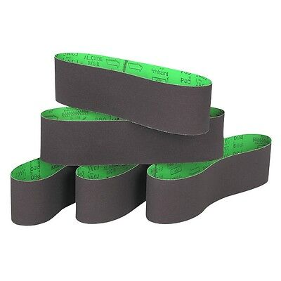 "Pack of 5 Aluminum Oxide 6"" x 48"" 80 Grit Wood Sanding Belts World Ship Free US"