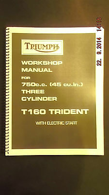 TRIUMPH Workshop Manual 750cc T160 Trident with Electric Start [3-51]