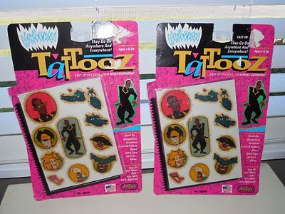 TWO Vintage Unopened Hammerman Temporary TATTOOS Tattooz MC Hammer Time 1991 MIP