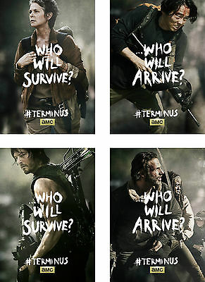 The Walking Dead Characters Rick Daryl Carol Glen Poster Set - A4 A3 A2 Sizes