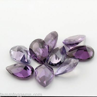 CLEARANCE Alexandrite Lab Created Sapphire 9x6mm Pears (Lot of 10)