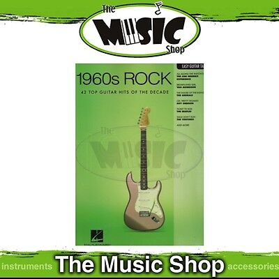 New 1960s Rock Music Book for Easy Guitar with Notes & Tablature
