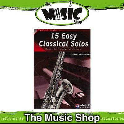 New 15 Easy Classical Solos for Tenor Saxophone Music Book & CD